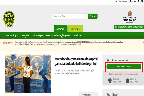 Como fazer cadastro na nota fiscal paulistana?