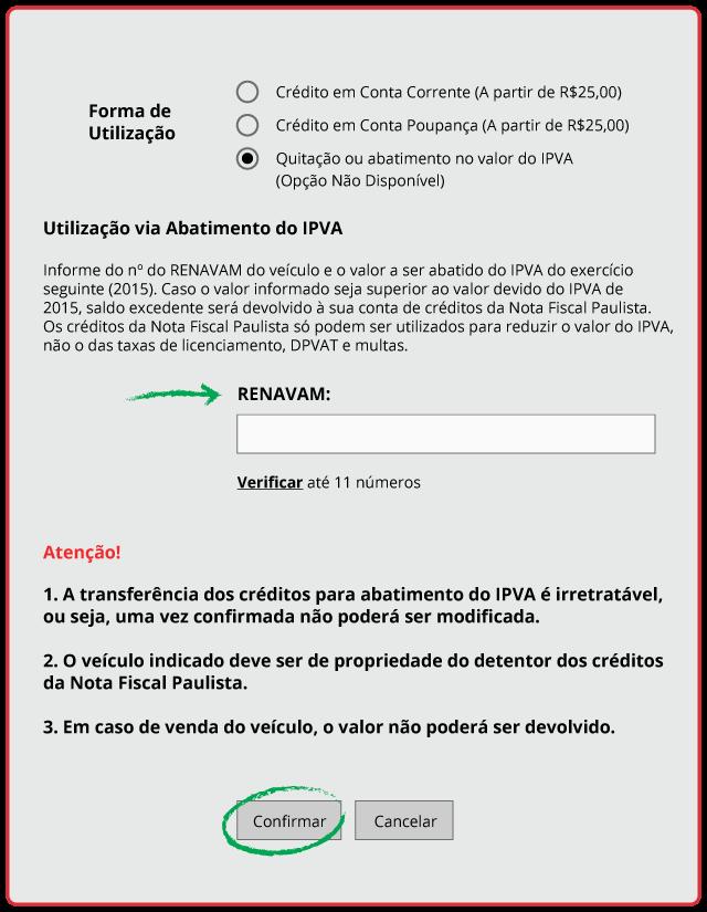 Como usar Nota Fiscal Paulista para Pagar IPVA