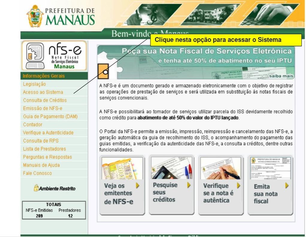 Consulta de crédito Nota Manaus