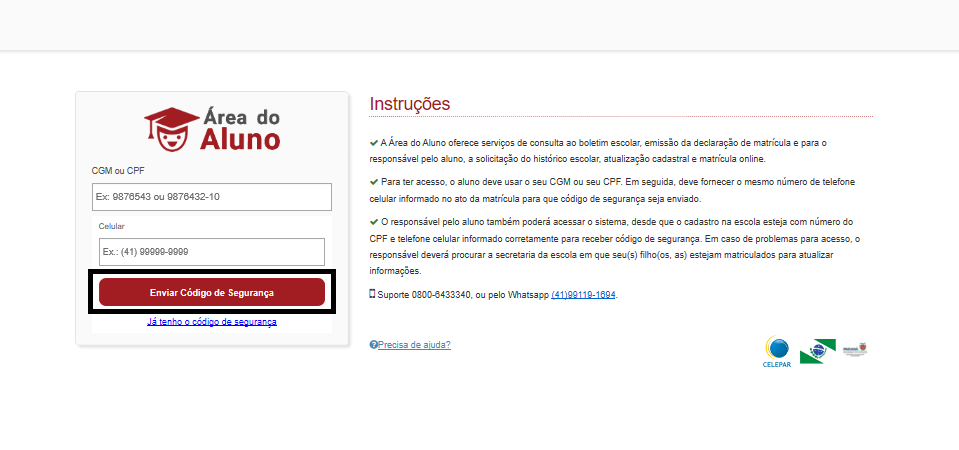 consulta boletim online paraná
