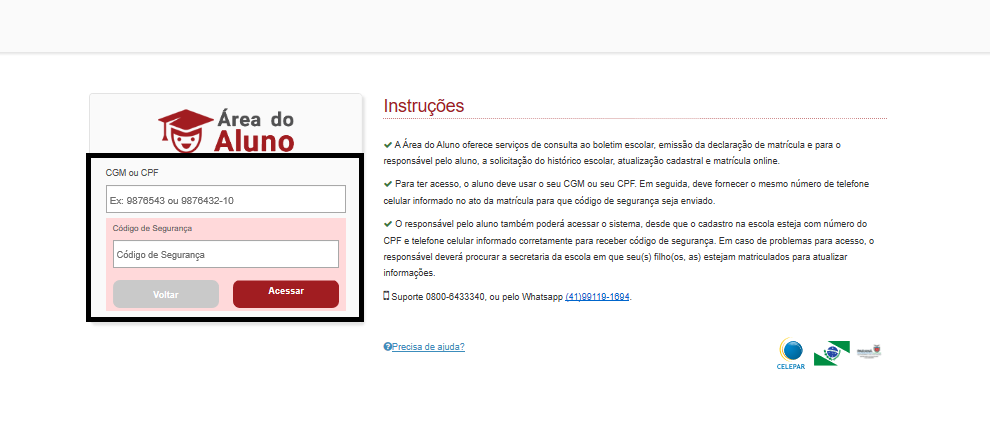 login boletim online pr 2020