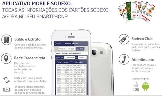 aplicativo mobile sodexo saldo