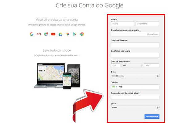 entrar no gmail - passo 5