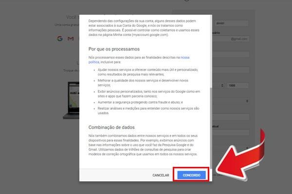entrar no gmail - passo 6