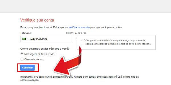 entrar no gmail - passo 7