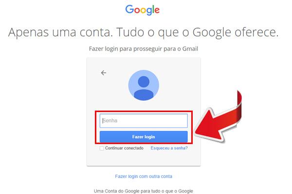 entrar no gmail - passo 2