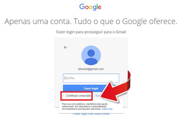entrar no gmail - passo 3