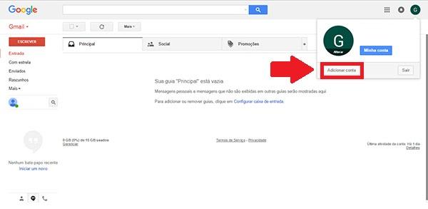 gmail login - passo 4