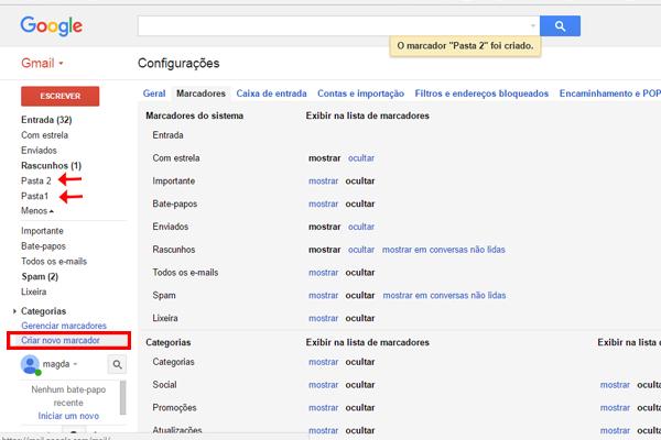 marcadores gmail