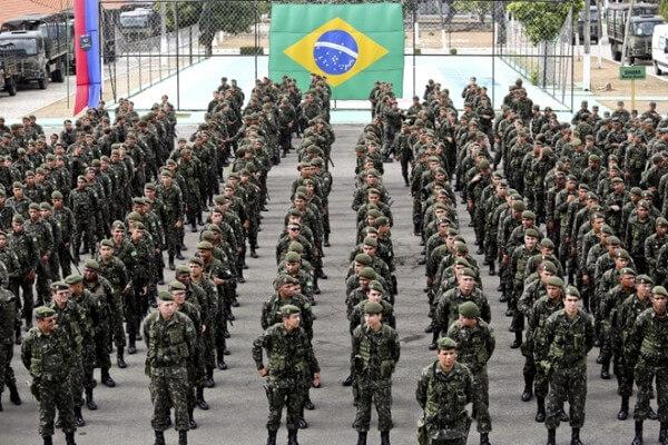 Exército brasileiro em ordem
